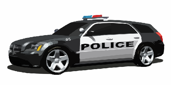 Image of a police car for reporting crimes