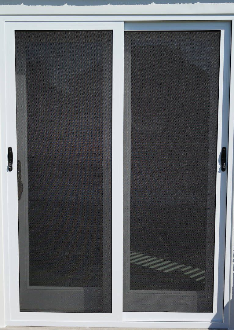 Sliding Security Screen Doors Installed