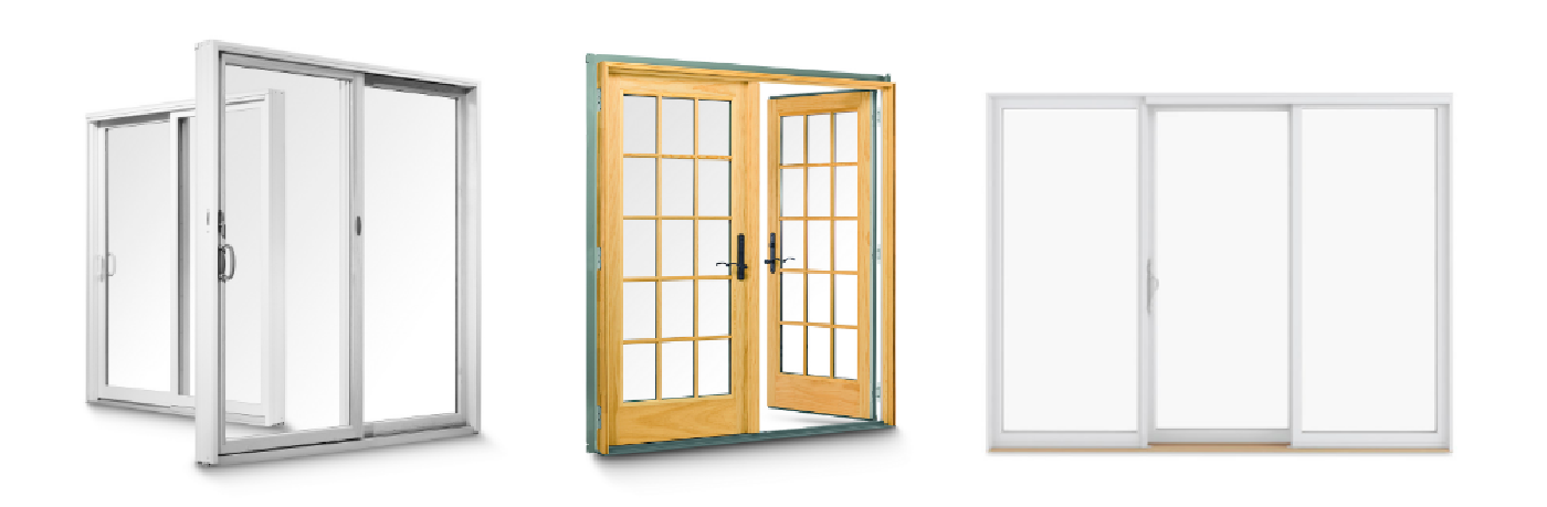 Image of 3 types of patio doors